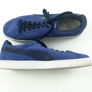 Puma Blue Suede Shoes Size 11.5